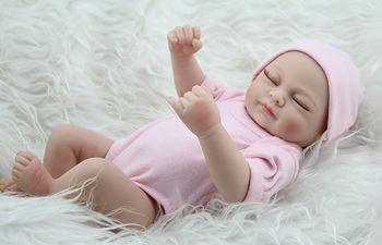 """Aliexpress.com: Comprar Npk Mini renacida bebé muñeca de la muchacha 10 """" pulgadas regalo de la muchacha de silicona llena de vinilo bebés juguetes realista nacidos mameluco rosado de bos regalo fiable proveedores en NPK Reborn Doll Nursery"""