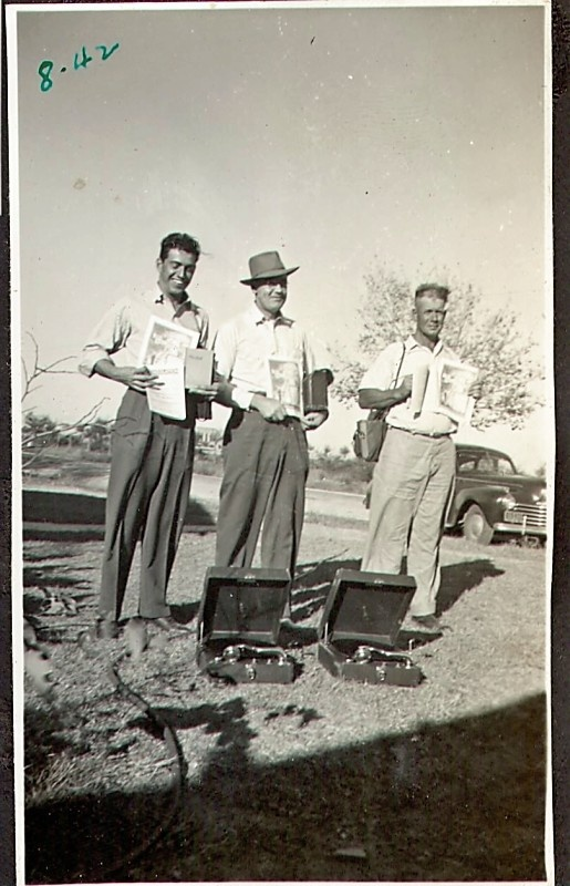 """1942, Middle: Grampa Douglas Haynes,  in the Ministry. (Photograph: property of Kathleen Haynes)"""