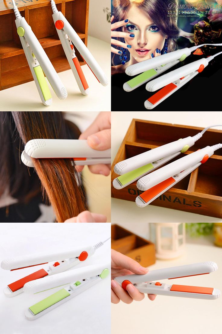 Undo straight perm -  Visit To Buy Mini Hair Straightener Hair Curler 2 In 1 Small Electric Splint