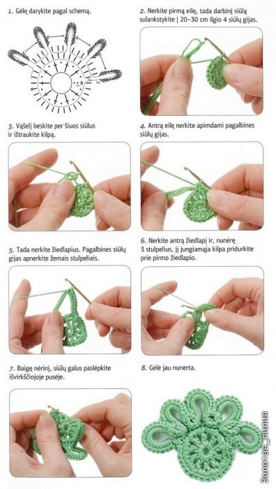 Irish crochet free diagram                                                                                                                                                                                 Más