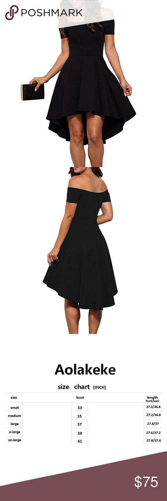 👓OPEN TO OFFERS👓 Material : 95% Polyester + 5% Spandex Features : Off Shoulder Neckline With Short Sleeve ; Unique High Low Hem ; Super Cute Skater Dress ; Pull On closure Occasion : Party / Club / Date Soft and comfortable ; Sexy and charming ; casual and stylish Note : Wash it by hand in 30-degree water ; hang to dry in shade ; prohibit bleaching .   Item # 18 Dresses