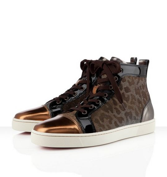 Kevin Hart Wears Christian Louboutin Louis Satin Leopard Sneakers at 2012  BET Awards