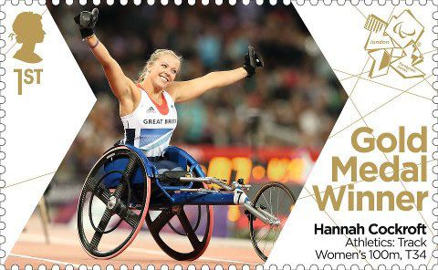 Paralympics Team GB Gold Medal Winners 1st Stamp (2012) Athletics: Track Women's 100m, T34 - Paralympics Team GB Gold Medal Winners