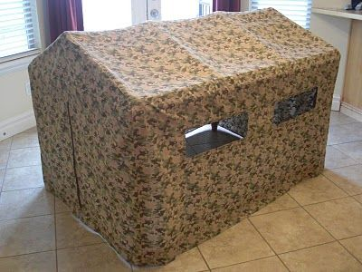 Army Bunker Tent: Homemade Christmas Gifts