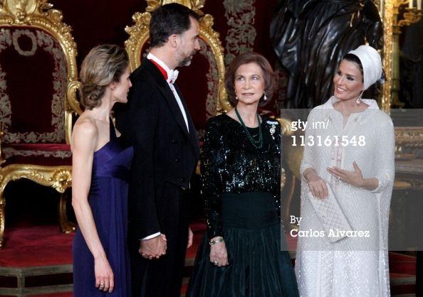 Sheikha Mozah,Koningin Sonja,Prins Felipe en Prinses Letizia
