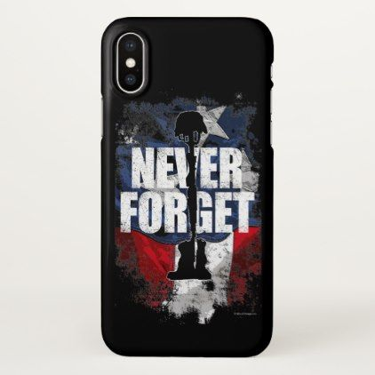 Never Forget (Memorial Day) iPhone X Case - memorial day holiday patriot usa