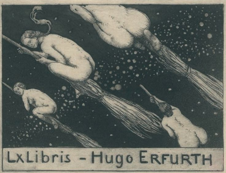 """ Bookplate Hugo Erfurth, by Georg Oskar Erler (d. 1951). From the catalog http://www.bibliotekacyfrowa.pl/dlibra/doccontent?id=15480  """