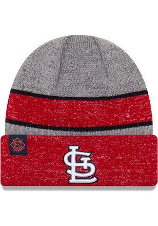 01dc8e1ee04 New Era St Louis Cardinals Mens Grey 2017 Sport Knit Hat