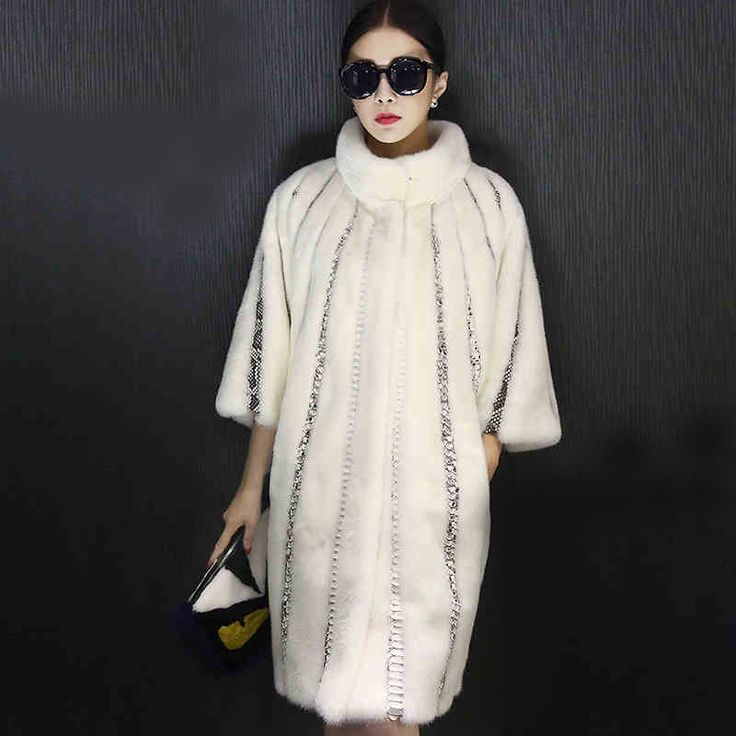 Woman's Fur Coat Velvet Mink Coat Long Section Full Pelt Double Faced Fur Coat White Color  GSJ049-in Fur & Faux Fur from Women's Clothing & Accessories on Aliexpress.com | Alibaba Group
