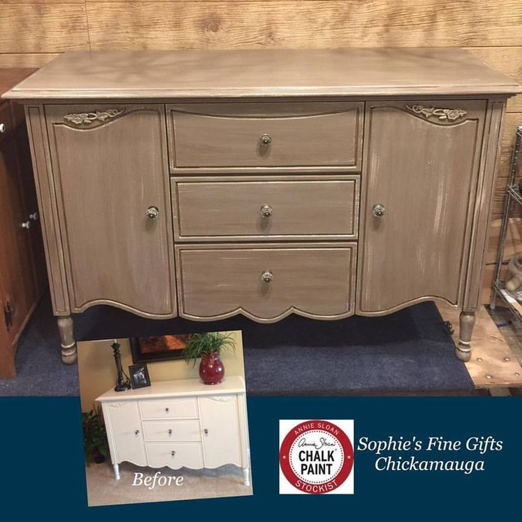 Check out this lovely piece of furniture. Chalk Paint® by Annie Sloan Coco with a dry brush of Old Ochre. Love how this color makes the glass knobs pop. Clay sealed with GF High Performance and Van Dyke Glaze by GF. Another happy customer. #chalkpaint #anniesloan #theoneandonly #paintedfurniture #diy #furnituremakeover #shopsmall #shoplocal #coco #oldochre #generalfinishes #glaze #sophies #chickamauga