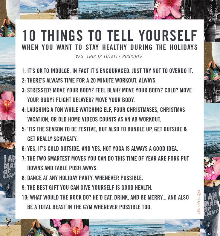 10 tips to have a balanced, fun, festive and happy Holiday season.