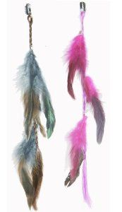 2 X Colored Feather Hair Extensions Grizzly Hair Extension Clip in on Beauty Salon Supply Wholesale Lot New by opt. $5.99. User Friendly: Make your own hair style.. Package Includes: 2 pieces dyed Natural Feathers hair extensions.. 2 X Colored Grizzly Feather Hair Extensions Clip In On Beauty Salon Supply Wholesale Lot New. Material: Colored Feather. Length: about 14 (35cm). Real Natural Feather Hair Extensions Clip In On . Make your own hair style. Package Includes: 2 ...