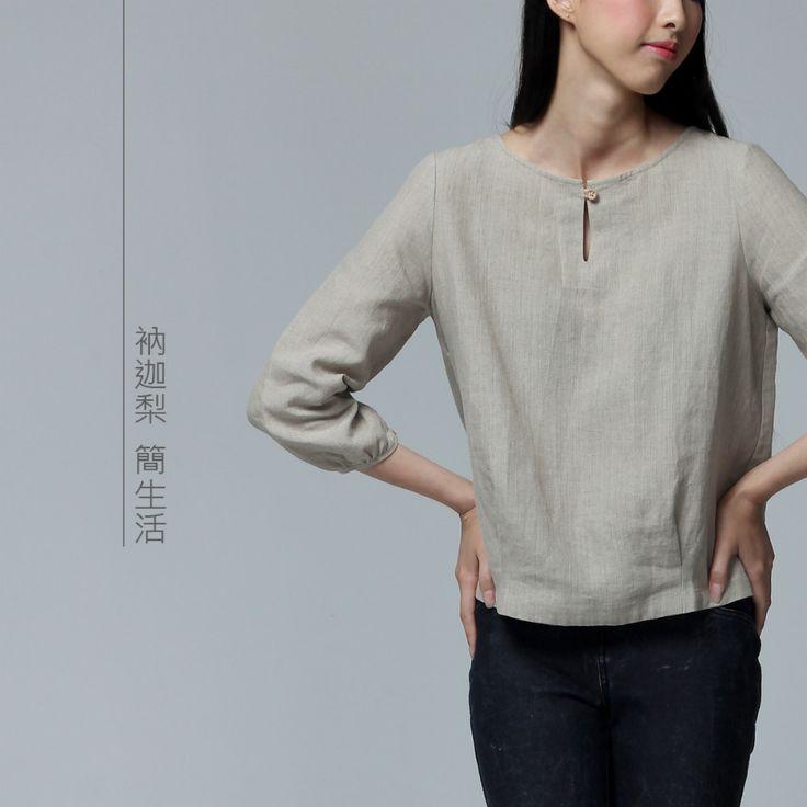 Nakali Chinese Traditonal Style Women's Shirt  Top  Hanfu Clothes Clothing Linen Spring 2014