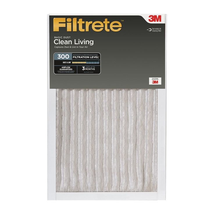 Filtrete Clean Living Basic Dust Filter MPR 300 16 x 25 x 1-Inches 6-Pack