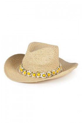 OZZ Hats Papatya Detaylı Hasır Şapka Lidyana