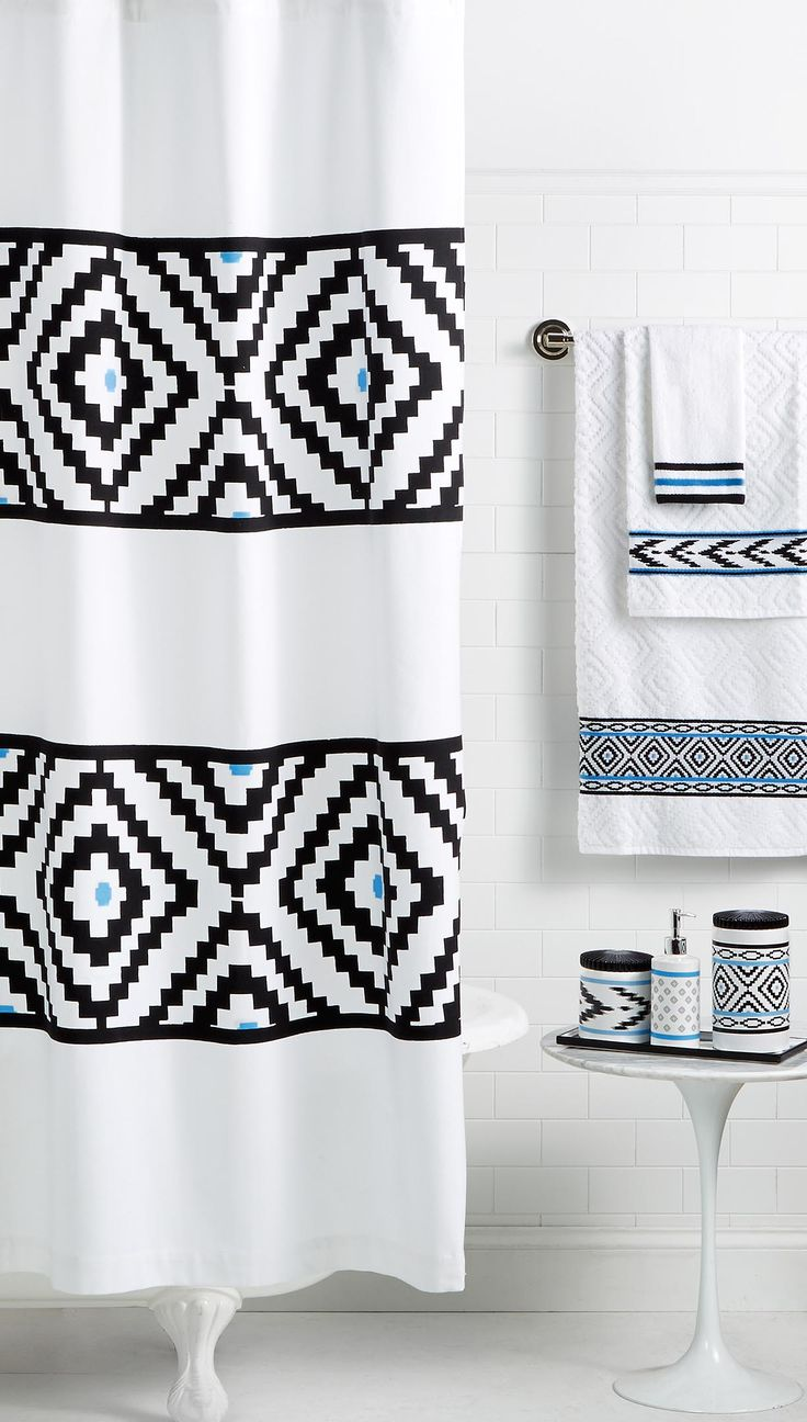 Leave The Walls And Fixtures Alone, And Just Add Coordinating Shower  Curtains, Bathmats, And Accessories! Shop This Look From The Martha Stewart  Collection ...