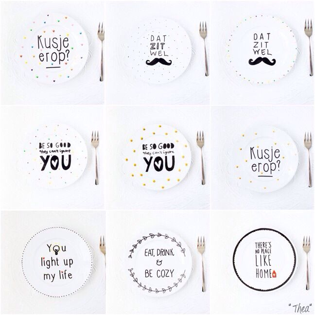 My handmade plates!