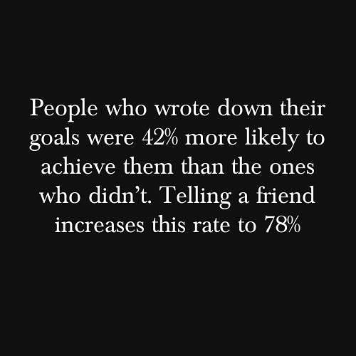 Write down your goals and tell a friend that's on a similar (preferably an accountability partner) mission as you your plans! #TWITTER