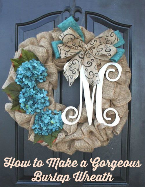 How to Make a Gorgeous Burlap Wreath. Transform your fall home with a rustic burlap wreath. A step by step DIY tutorial and video show you how to make.