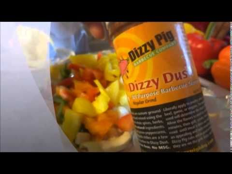 Dizzy dust from tim farmer on the veggies cooked on the bbqSo I was having a bbq with some of my friends and family and my friend told me about dizzy dust that he had received from tim farmer. I thought it would be cool to try the dizzy dust on the veggie's that are cooked on the bbq.. check out tim farmers page or my buddy warren page at cheapskategardener2.0
