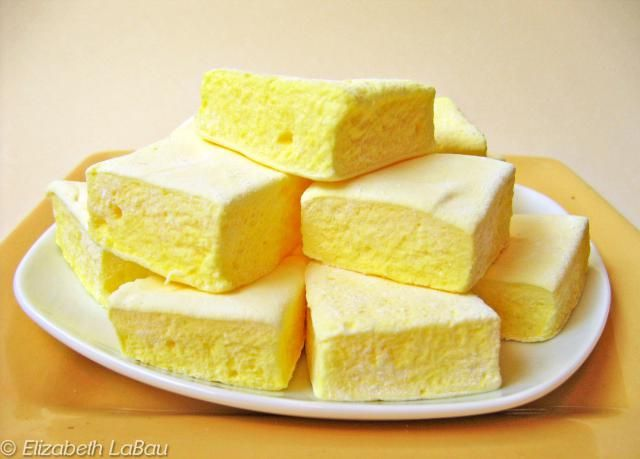 This homemade Lemon Marshmallows recipe produces a light, fluffy marshmallow sparkling with sweet-tart lemon flavor.