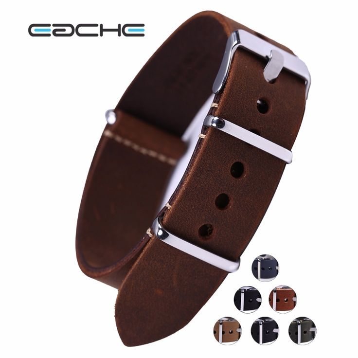 High Quality Vintage Genuine Leather nato watch Straps Watchband for Military Watch  20mm 22mm 24mm  wholesales #>=#>=#>=#>=#> Click on the pin to check out discount price, color, size, shipping, etc. Save and like it!
