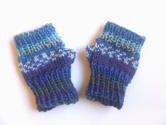Fingerless Mittens Baby  wristwarmers  hand by TheYarnOwlsNest
