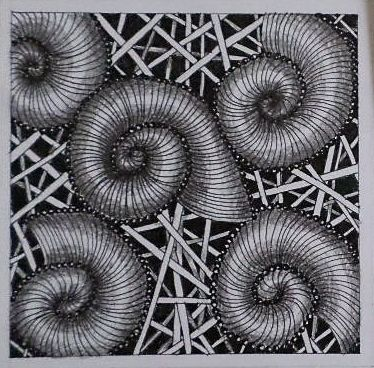 Zentangle pattern, more pictures https://www.facebook.com/ercziart/