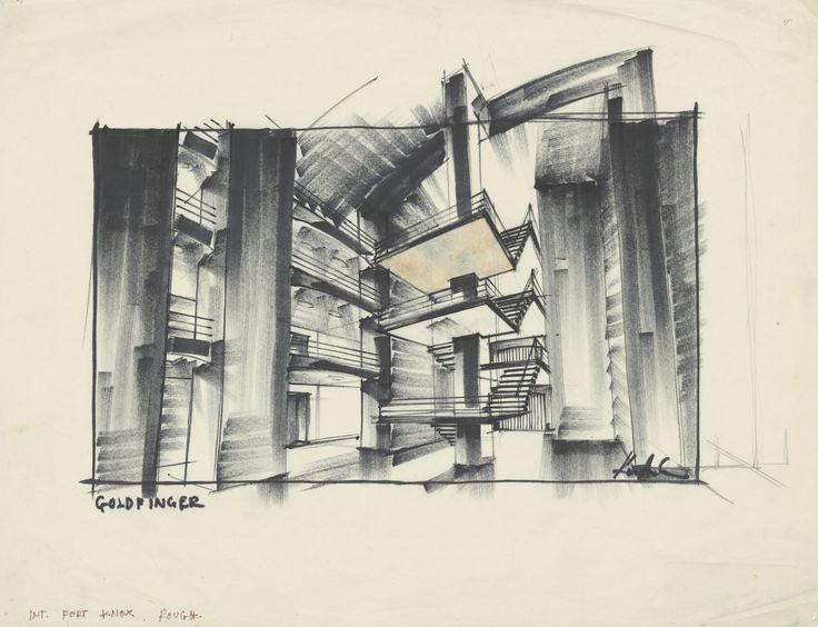 Ken Adams - Sketches & Set Design