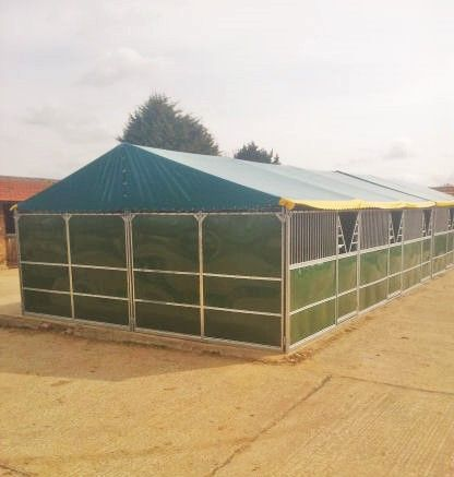 A large hyppic #temporary #stable from #Cheval Liberte