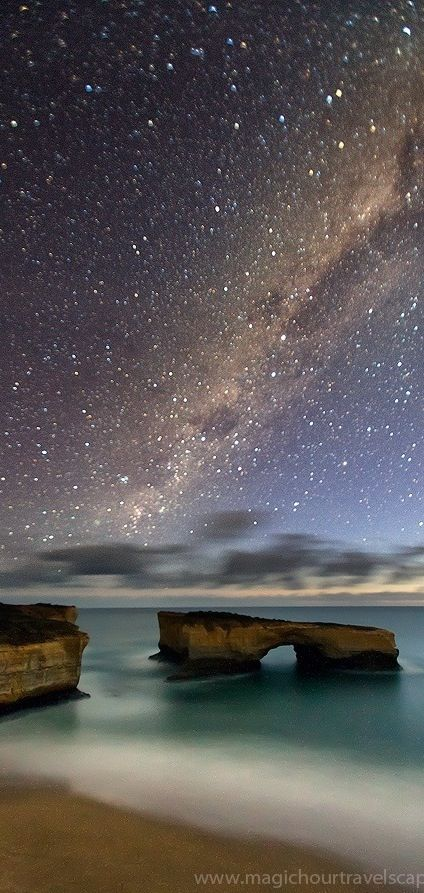 ♥ Milky Way. Great Ocean Road. Victoria, AUSTRALIA The stars are magnificent in Australia!