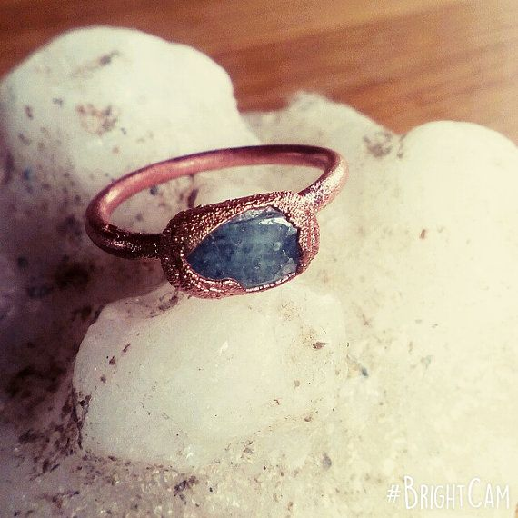 Check out this item in my Etsy shop https://www.etsy.com/listing/483882088/aquamarine-ring-electroformed-ring-boho