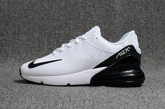 Men's Nike Air Max 270 Kpu White Black Boys Running Shoes