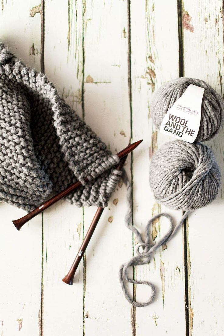 I plan to knit Finn a big grey scarf. Knitting, @Becky Hui Chan Wooley and the Gang via Style Slicker