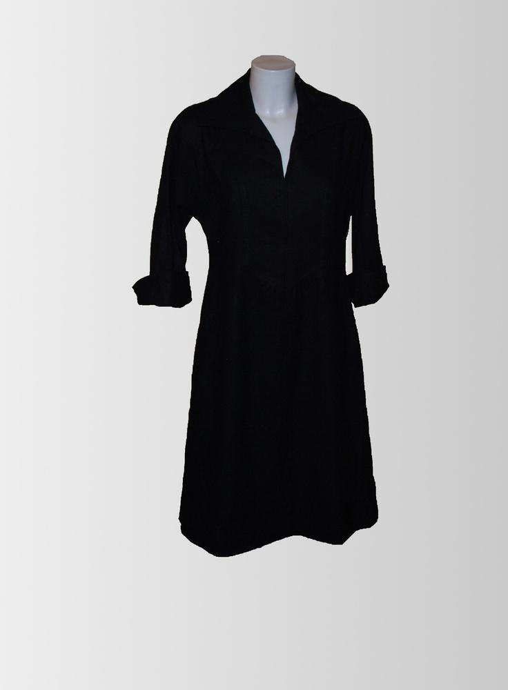 1980s Black Jersey Dress from www.sixesandsevensvintage.com at £15.00  Size 12-14