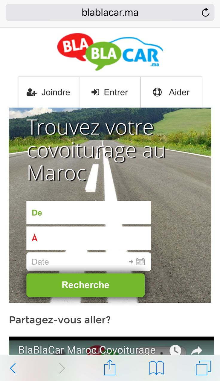 Covoiturage Maroc BlaBlaCar