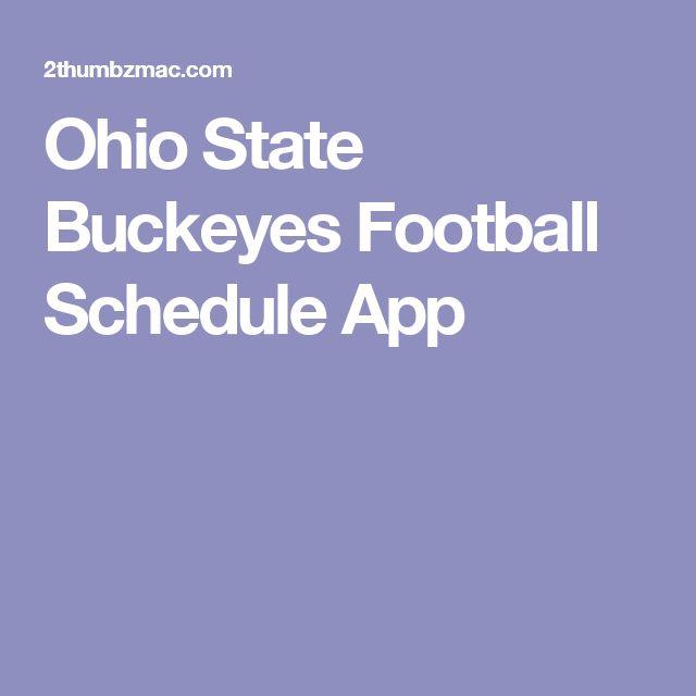 Ohio State Buckeyes Football Schedule App
