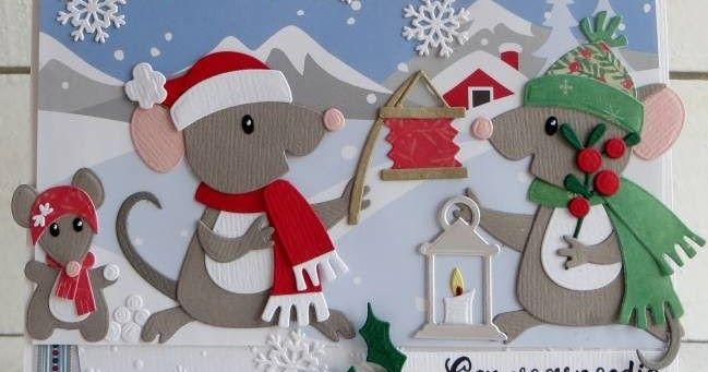 Hallo allemaal, Wat zijn ze leuk he die nieuwe muisjes van Marianne Design? Had er vandaag een gezellige demo mee in Hoeven eigenlijk ...