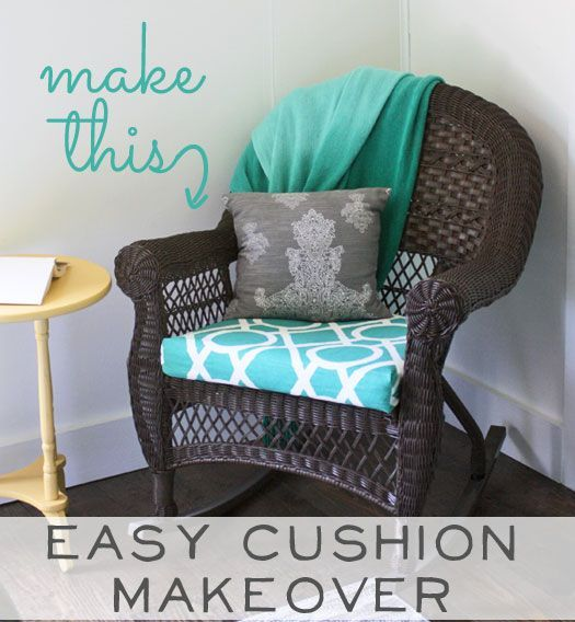 Make This: Easy Chair Cushion Makeover