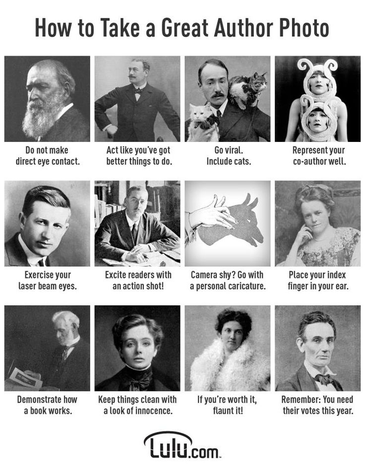 How to take a great author photo