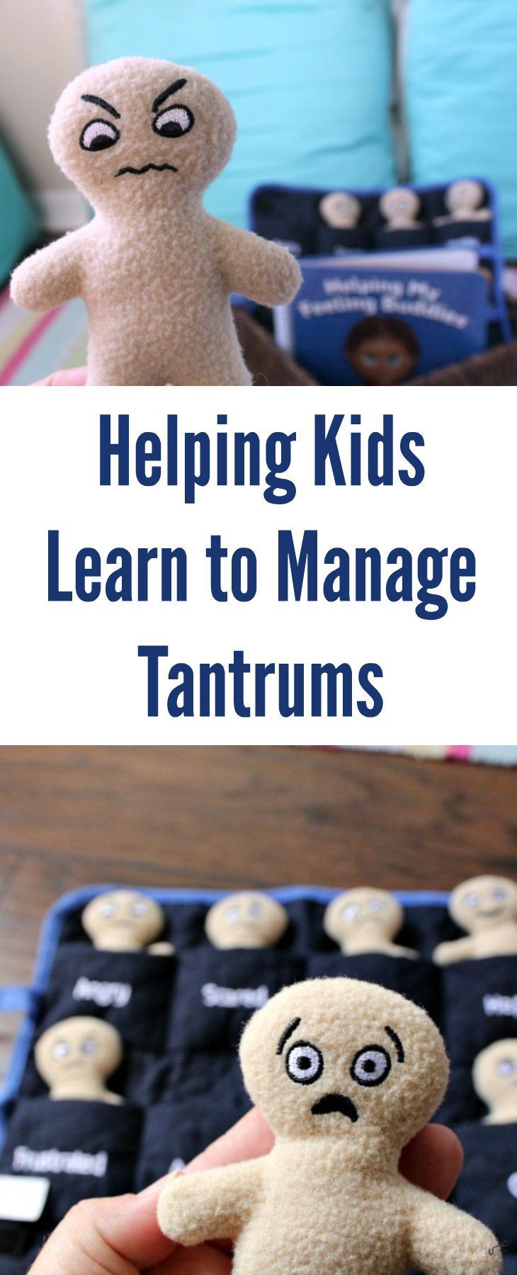 Tips for Helping Kids Learn to Manage Temper Tantrums with Feeling Buddies.  A must have parenting tool to help manage those BIG emotions as a child. AD