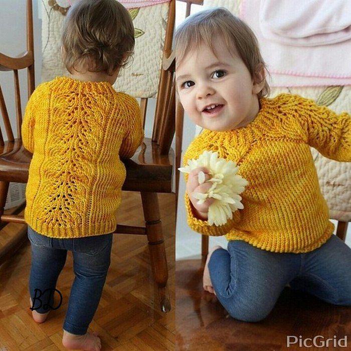 Желтая кофточка малышу