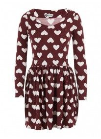 Heart-printed skater dress Multi-colour