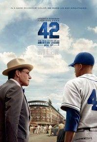 메이저리그 최초의 흑인 선수였던 재키 로빈슨의 이야기 야구 좋아라 하는 사람들은 꼭 봐야 할 영화   그의 등번호인 42번은 2013시즌 양키스의 클로저 마리아노 리베라가 은퇴하게 되면서 이제 전 구단 결번으로 남았다 (리베라가 달고 나서 전구단 결번이 된거 같은데 이제 정말 전구단 결번이 됐다)