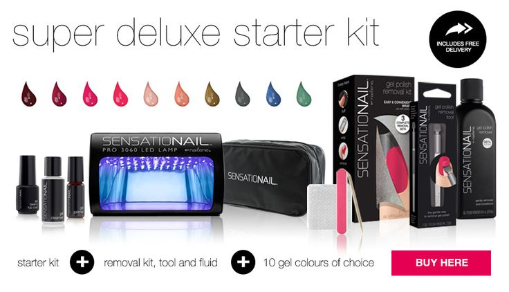 Get 10% Off Any Starter Kit At Sensationail Added Thursday 29th November 2012, Expires Monday 30th December 2013 Salon quality gel nails, or just treat yourselfUse this voucher code and get 10% off any Starter Kit – That's everything you need for do-it-yourself gel nail manicures for just £54. http://www.vouchercodesuae.com/sensationail.co.uk