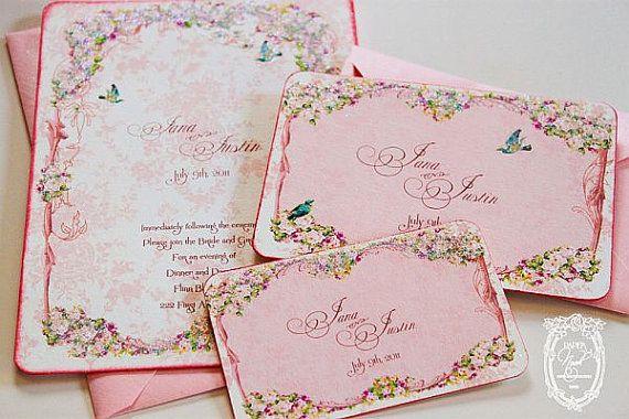 la Belle Rouge Roses Marie Antoinette Custom Wedding by papernosh, $16.50