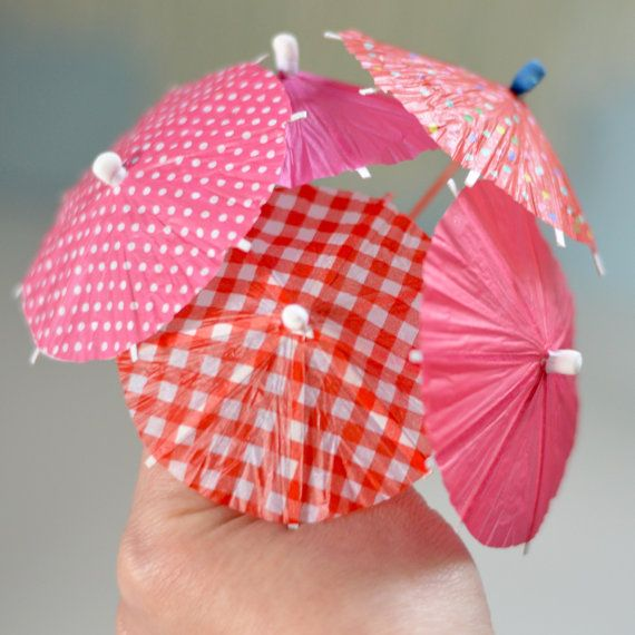 10 pcs Summer party drink favour Red pink cocktail umbrella for a summer picknick