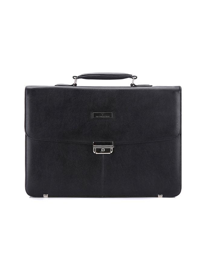 Czarna skórzana aktówka VIP Collection Wittchen 159 PLN  #limango #sales #teczka #dress #code