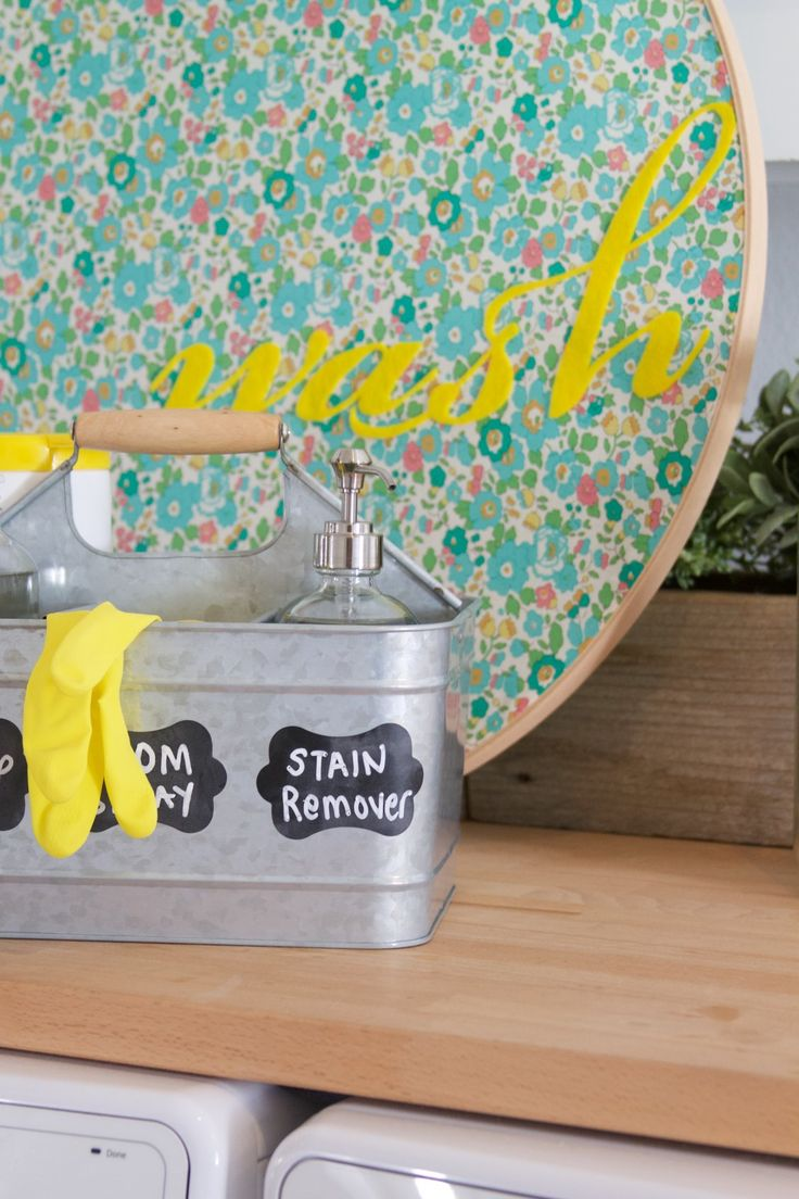 Start 2018 off on the organized DIY side! Learn how to organize and transform your laundry space with 3 fun tutorials. #fiskars #organization #laundryroom