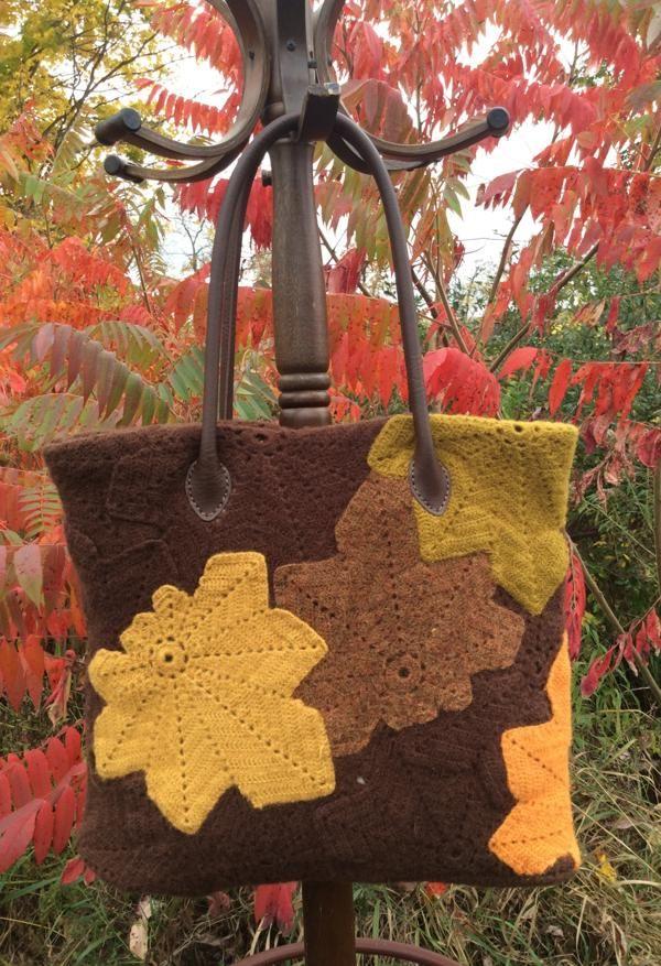 ABC Knitting Patterns - Chestnut Leaf Bag